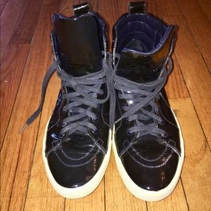 1e019a142c5 Yves Saint Laurent Shoes - Ysl Navy Blue Rolling Sneaker Leather High Tops